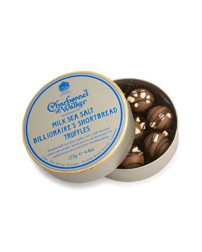Milk Sea Salt Billionaire's Shortbread Truffles