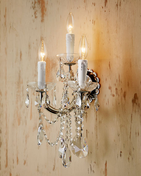 Chandelier And Wall Sconces : Ariana Crystal Sconces