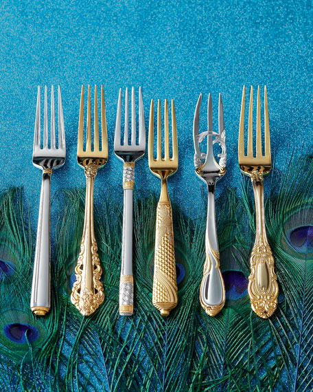 5-Piece Byzantine Gold-Plated Flatware Place Setting