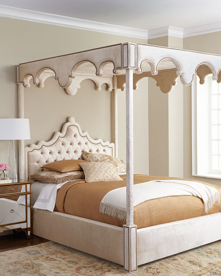Queen Canopy Bed: Haute House William Canopy Bed