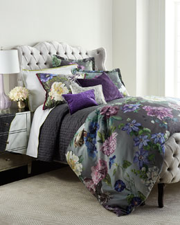 Alexandria Amethyst Bedding & Astor Moss 400TC Sheets