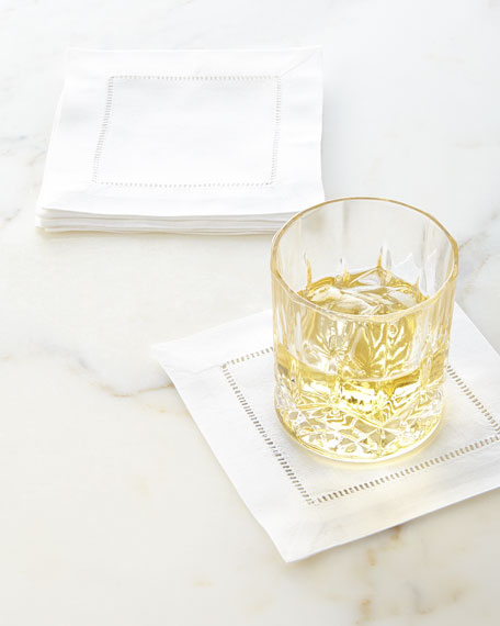 12 Hemstitch Cocktail Napkins