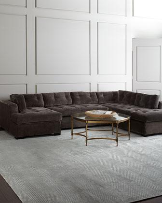 McLain Gray 3-Piece Sectional & Armless Sofa