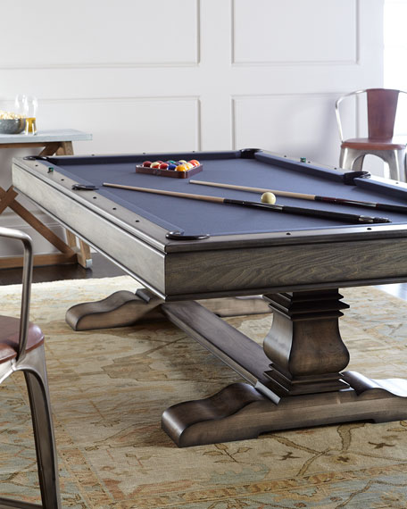 Huntley Pool Table with Table Tennis Conversion Set