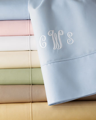 Gorgeous monogrammed bedsheets