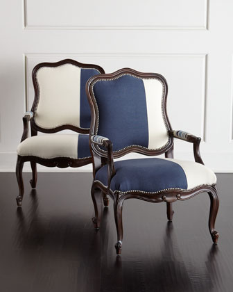 Madison & Michael Colorblock Bergere Chairs