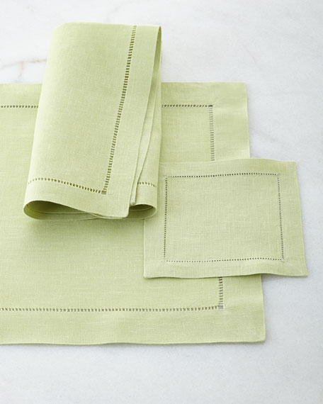 Hemstitch Dinner Napkins, Set of 4