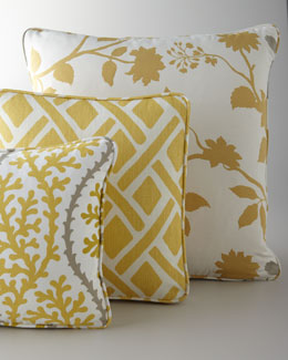 Yellow, Citron, & Gray Pillows
