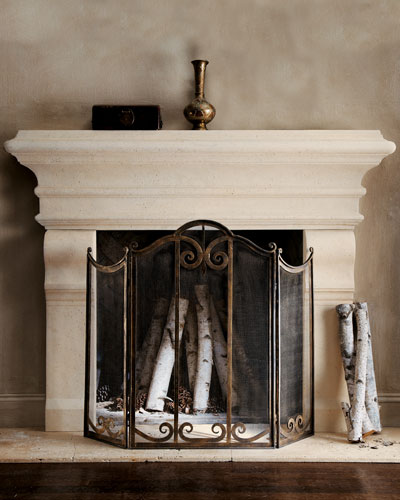 Fireplace Screens Fireplace Mantels Fireplace Accessories Horchow