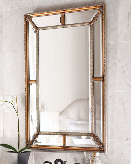 John richard collection beveled frame mirror - Home decor wall mirrors collection ...