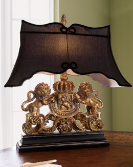 Old World Design Llc Lion Crest Lamp