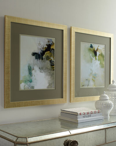 Two Overjoyed Abstract Giclee on Canvas Wall Art Set