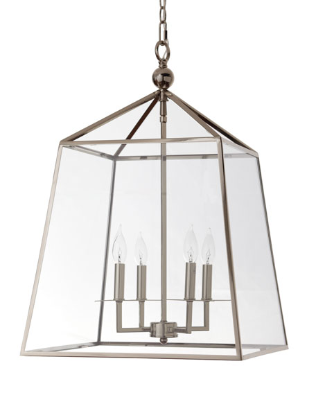Square 4-Light Glass Lantern