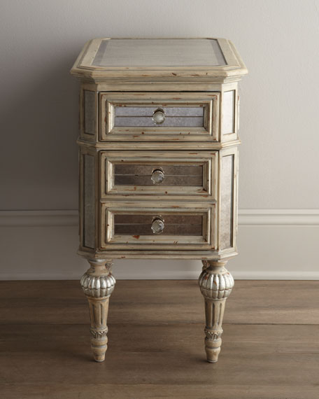Attrayant Dresden Mirrored Side Table