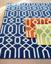 "Geometric Twist Indoor/Outdoor Rug, 3'11"" x 5'7"""