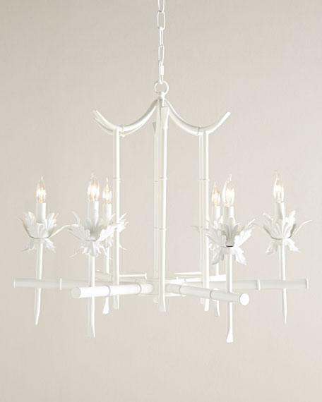 - Bamboo-Motif 6-Light Chandelier