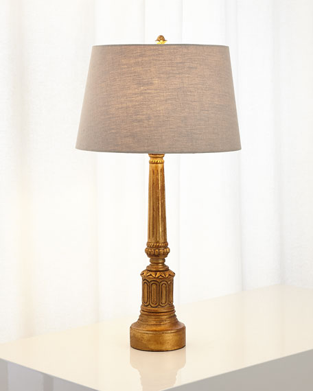 Eugenia Carved Wood Lamp