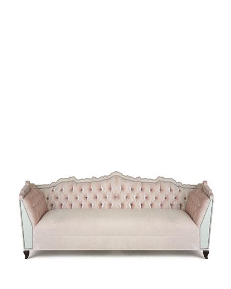 "Santiago Mirrored Sofa 88"""