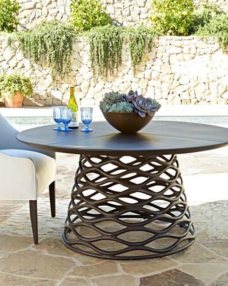 Industrial Renaissance Outdoor Coffee Table: Industrial Renaissance Table & Outdoor Upholstered Chair