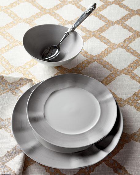 Neiman Marcus 12-Piece Platinum Brushstroke Dinnerware Service