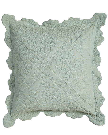 "Zella Quilted Pillow, 18""Sq."