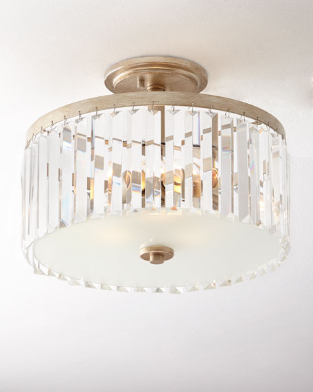 Intrigue Crystal Semi Flush Mount