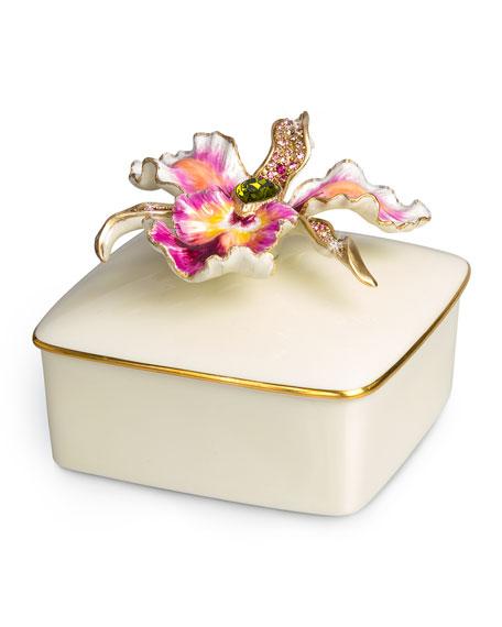 Orchid Porcelain Box