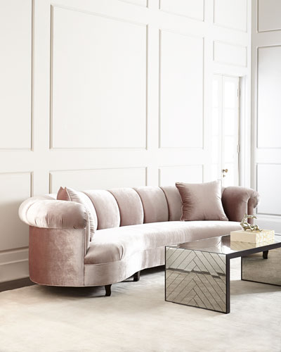 Audrey Channel-Tufted Sofa 123