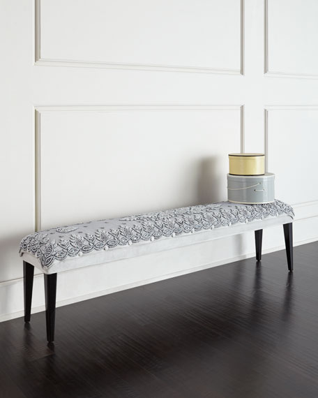 Designer Benches : Mirrored & Sheepskin Benches at Neiman Marcus Horchow