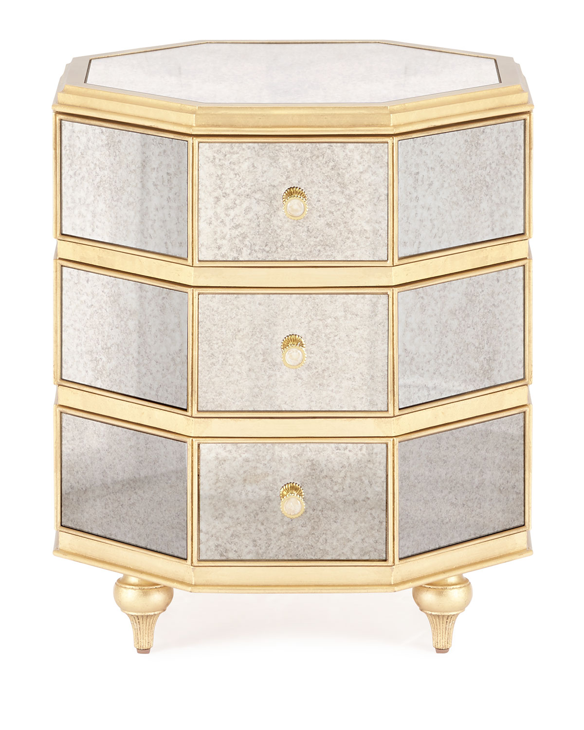 Cynthia Rowley For Hooker Furniturebewitch Mirrored Side Table