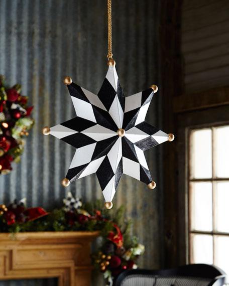 Mackenzie Childs North Star Jumbo Christmas Ornament