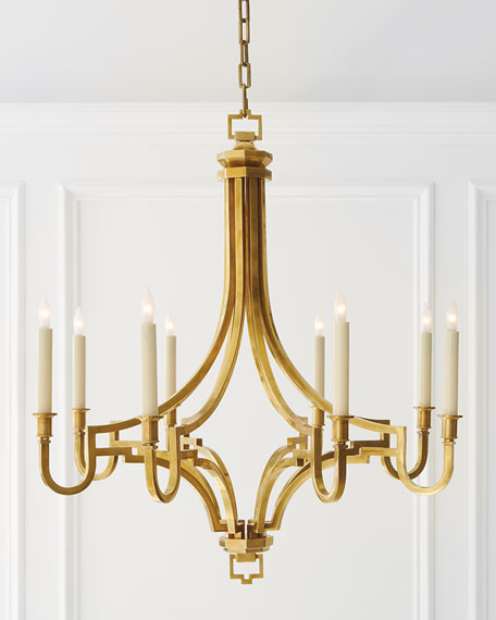 Chapman & Myers Mykonos 8-Light Small Chandelier