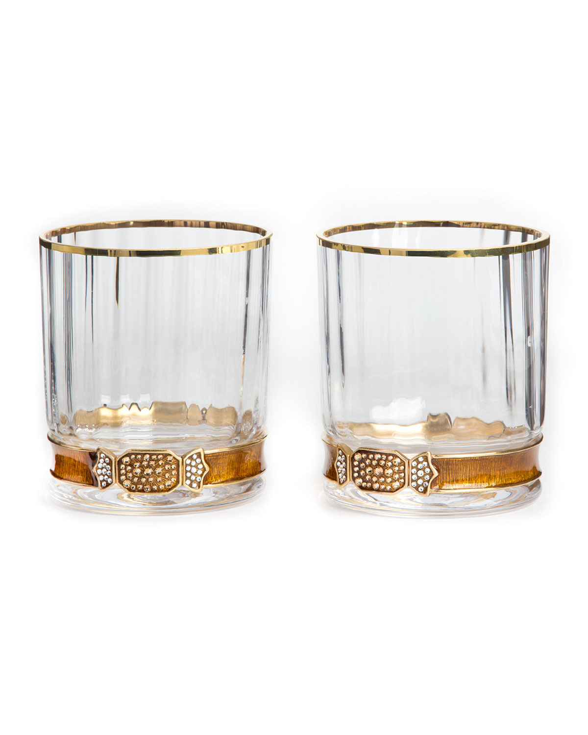 Jay Strongwater Double Old Fashioneds Set Of 2