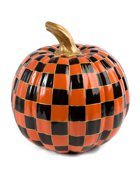 Orange Check Medium Pumpkin