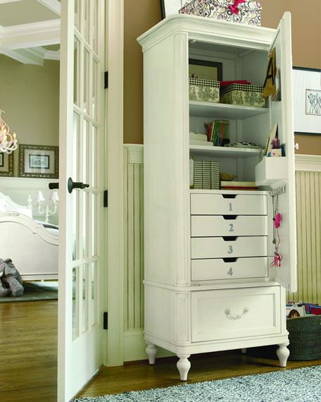 Blake Nursery/Kid's Bedroom Storage Armoire with Mirror