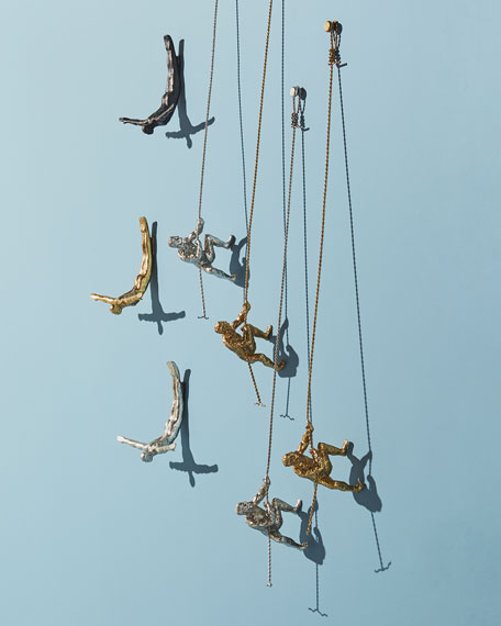 Wall Diver Statue, Gold