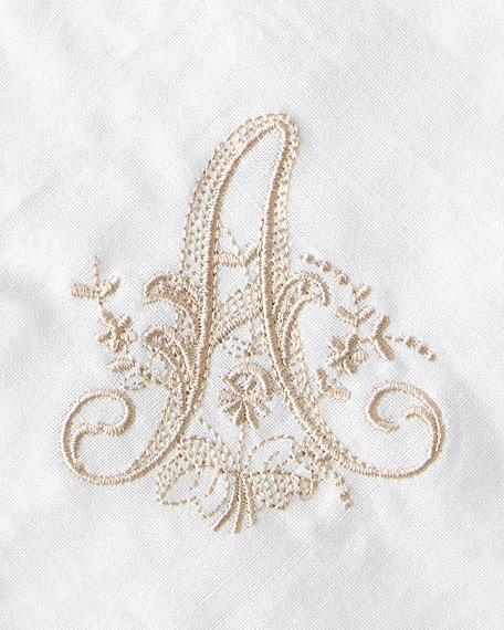 Initial Monogrammed Dinner Napkins, Set of 4