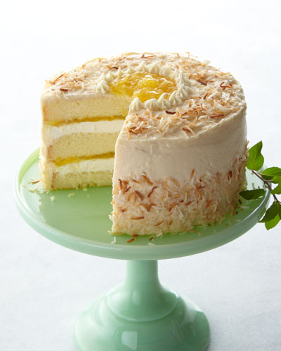 Pineapple Coconut Cake  For 10-14 People