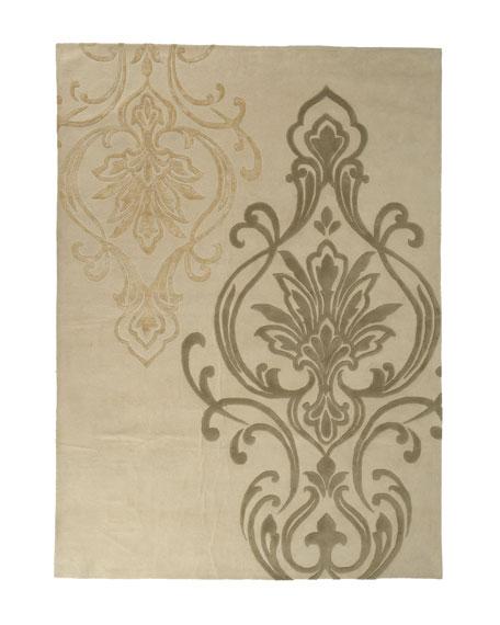 Fleur-De-Lis Rug, 5' x 8'