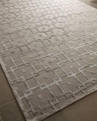 Silver Blocks Rug, 12u0027 X 15u0027