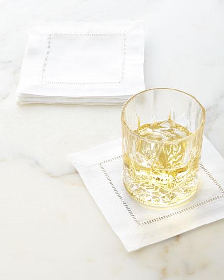 12 Hemstitch Cocktail Napkins