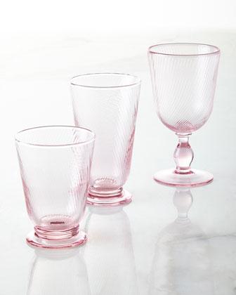 Arabella Pink Glassware