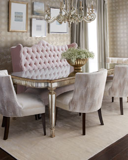 Tiffany Chair, Isabella Banquette, & Eliza Dining Table