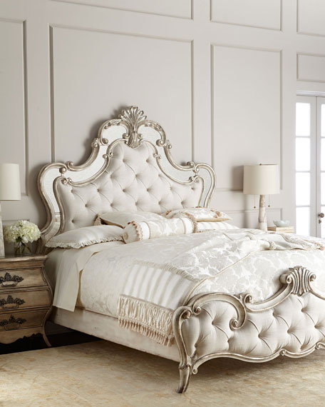 sanctuary tufted size platform hooker bedroom furniture queen essence zm traditional product bed pearl