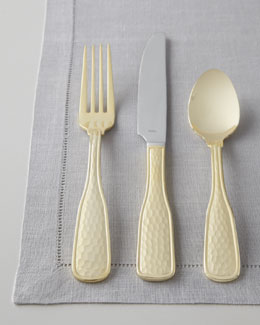 "Hammered Gold ""Country"" 45-Piece Flatware Service"