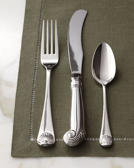 "Five-Piece ""Royal Shell"" Flatware Place Setting"