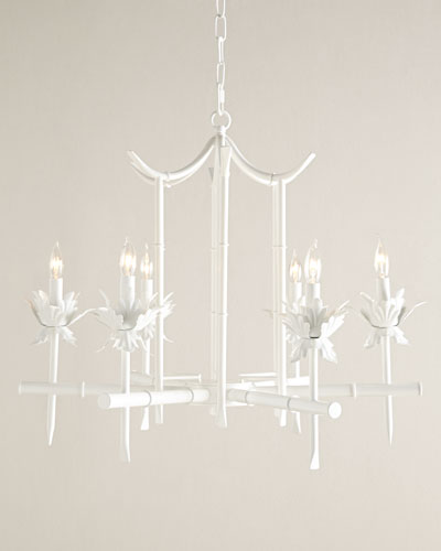 Bamboo-Motif 6-Light Chandelier