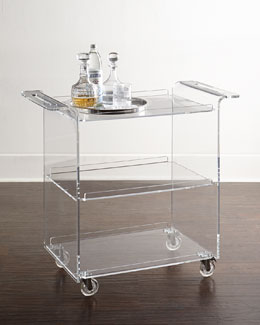 Nicole Acrylic Bar Cart