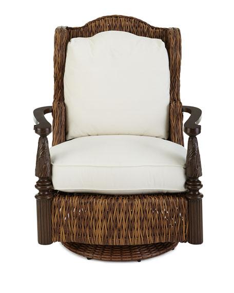 Royal Plantation Outdoor Swivel Glider Chair Armchair & Ottoman