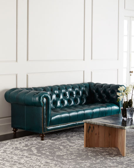 Chesterfield sofa  Massoud Davidson Tufted-Seat Chesterfield Sofa